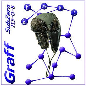 Зимняя шапка-ушканка Graff (Графф) 113-O-B, фото 2