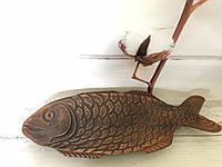 Глиняная селедочница рыбка 35 см, фото 1