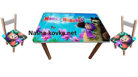 Детский набор мебели столик и 2 стульчика Маша и Миша