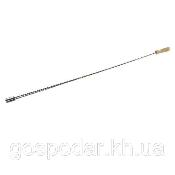 Держатель (гибкий) щетки из переплетенных прутьев с деревянной ручкой.1000 мм.