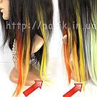 💛 Искусственные желтые пряди волос на заколках 💛, фото 6