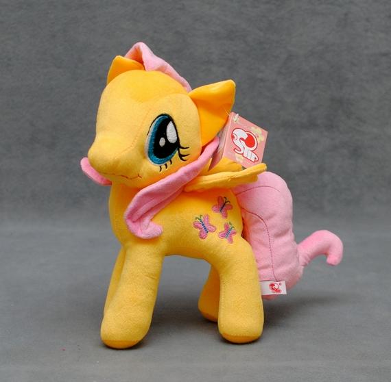 Пони Флаттершай 30 см. My Little Pony Мой маленький пони Мягкая игрушка