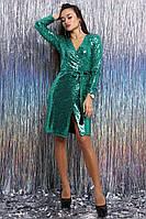 """Осень 2018! Модное и необыкновенное, женское платье с запахом """"Марисоль"""", пайетка на подкладке РАЗНЫЕ ЦВЕТА"""