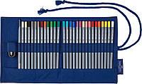 Карандаши акварельные Faber-Castell Goldfaber Aqua  в тканевом пенале 27 цветов с аксессуарами, 114652