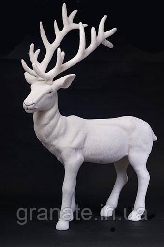 Новогодняя фигура Олень, цвет: белый 76 см