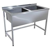 Ванна моечная ВМ-2 10-6-40 двухсекционная нержавеющая (эконом)