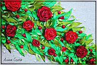 Большая картина с красными розами