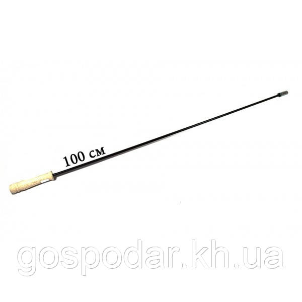 Тримач (жорсткий) щітки з дерев'яною ручкою.1000 мм.
