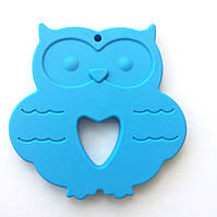 Сова плоская (голубая) силиконовый прорезыватель