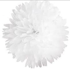 Бумажный помпон из тишью, 15 см. белый