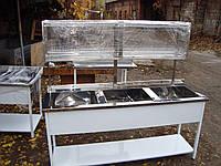 Ванна моечная ВМ-3 18-7-35 трехсекционная нержавеющая (эконом)