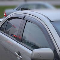 COBRA TUNING Дефлекторы окон на Mitsubishi Lancer X '07- седан (накладные)