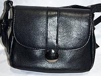 Женский черный клатч через плечо из искусственной кожи 21*17 см, фото 1