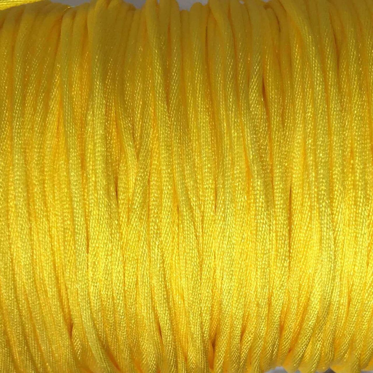 Шнур (желтый), нейлон, метр