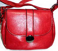 Женский красный клатч через плечо из искусственной кожи 21*17 см, фото 1