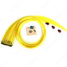 💛 Цветные пряди искусственных волос на заколках, желтые 💛, фото 2