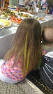 💛 Цветные пряди искусственных волос на заколках, желтые 💛, фото 10