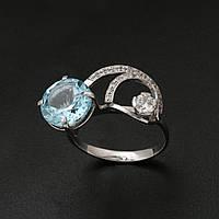 Серебряное кольцо с топазом 2181047