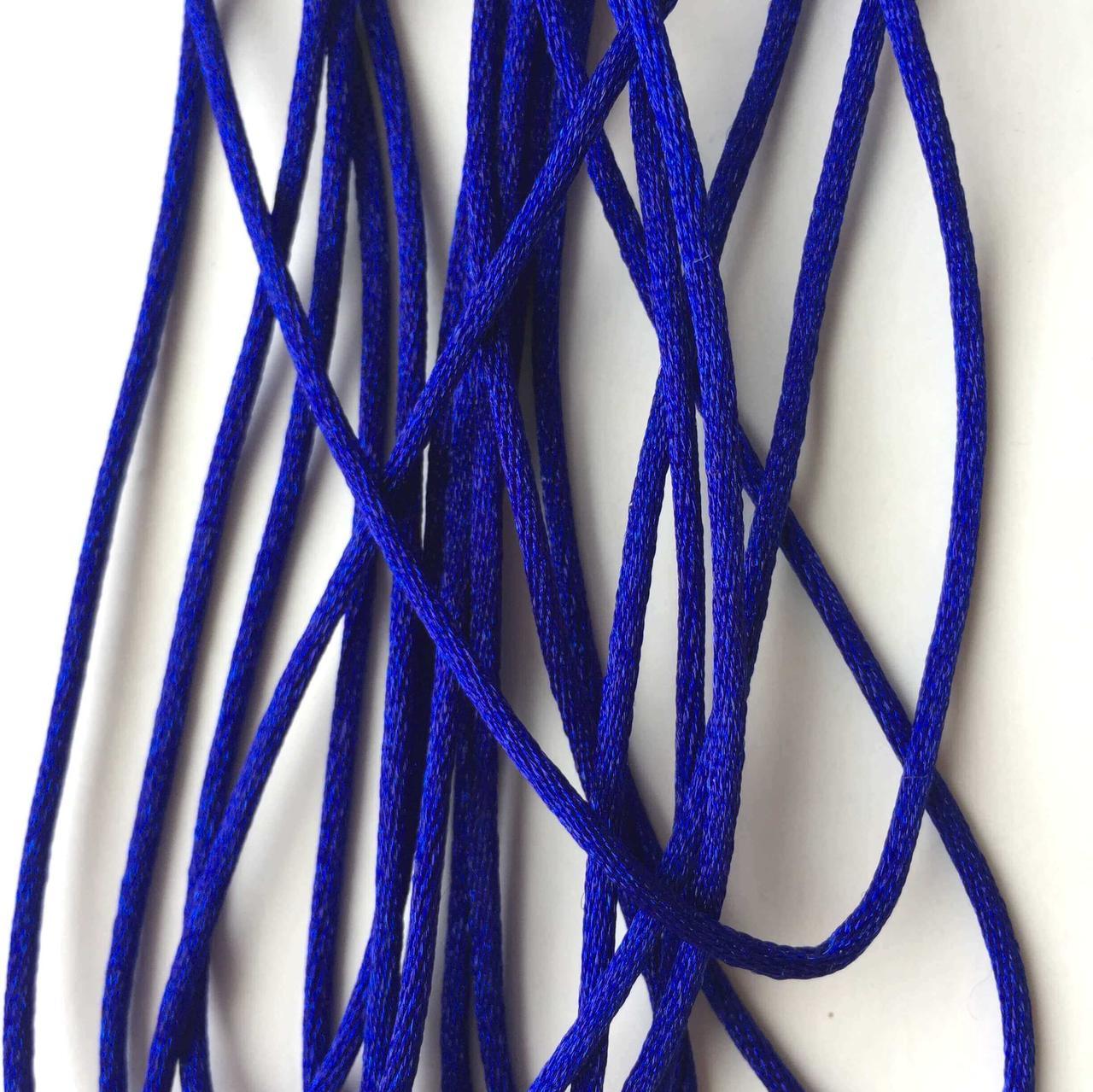 Шнур (темно синий), нейлон, метр
