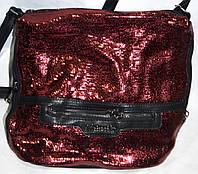 Женская красная сумка-клатч из лазерной кожи 26*25 см