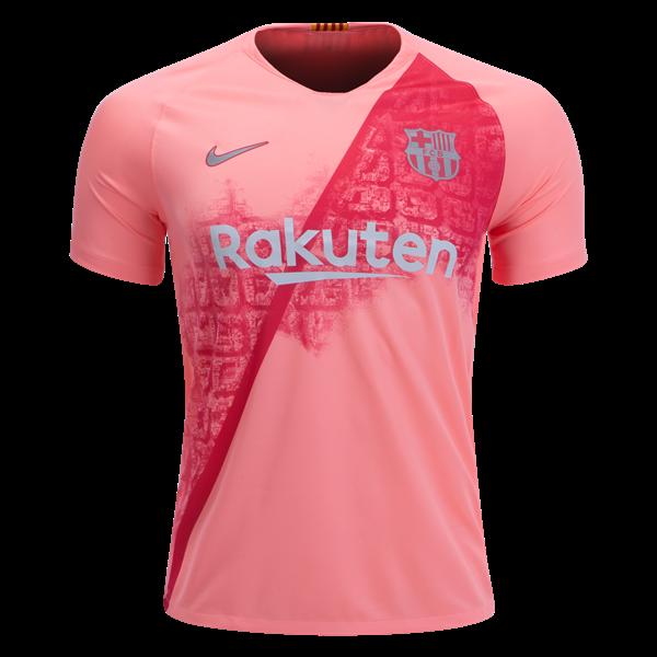 Футбольная форма Барселона (fc Barcelona) 2018-2019 выездная розовая ... bdb0caa1a46