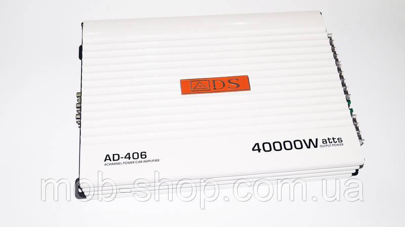 Автомобильный усилитель звука ADS AD-406 4000 Вт