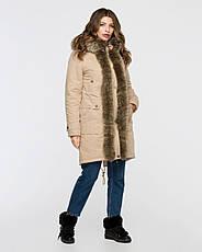 Куртка-парку жіноча зимова 3073 розмір 44-54, фото 3