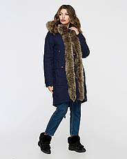 Куртка-парку жіноча зимова 3073 розмір 44-54, фото 2