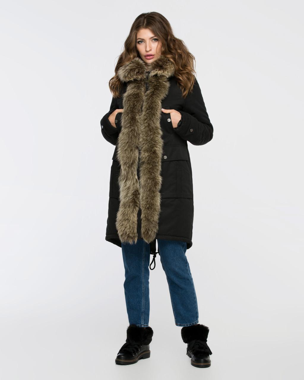 Куртка-парку жіноча зимова 3073 розмір 44-54