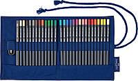 Набор цветных карандашей Faber-Castell Goldfaber в тканевом пенале 27 цветов с аксессуарами, 114752