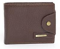 Мужской вместительный классический кошелек с эко кожи PIROYCE art. 209-01 коричневый, фото 1