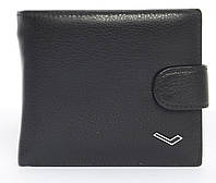 Мужской стильный классический кошелек c прочнойкожи WATER LILY art. 0710 A черный, фото 1