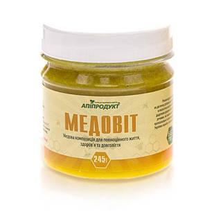 Медовит Апипродукт помогает печени обезвреживать токсины  245 г, фото 2