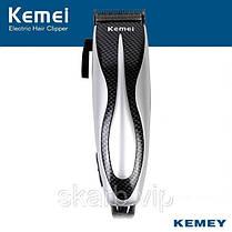 Машинка стрижки Kemei, мощность 12 Вт, ножи из нержавеющей стали, 4 насадки
