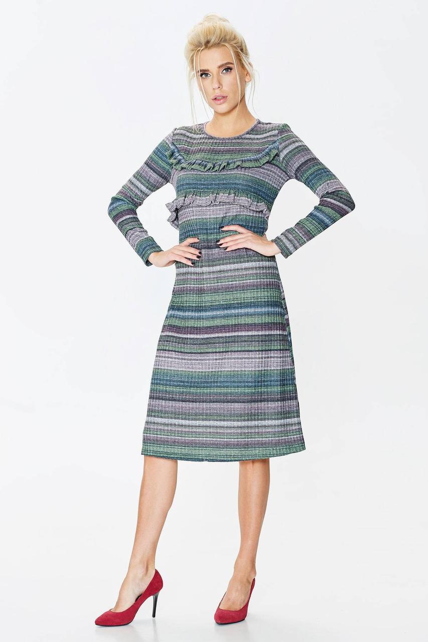 66c8fd34a479fe5 Трикотажное женское платье-миди с люрексом ТM Nenka p.S,M,L: продажа ...