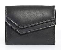Кожаный удобный мужской кошелек SWAN с монетницейart. 0091-11-23586732 черного цвета, фото 1