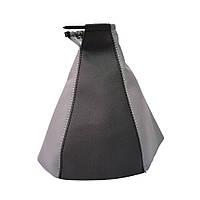 Чехол ручки КПП Chevrolet Lacetti '02- (Черно-серый кожзам), фото 1