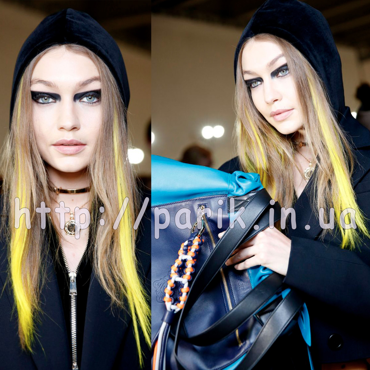 💛 Показ Versace, цветные желтые пряди 💛
