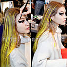 💛Ярко желтые цветные пряди как на  показе Versace 💛 , фото 4