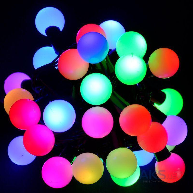Гирлянда светодиодная, шарики 50 LED Мульти,двухцветная