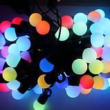 Гирлянда светодиодная, шарики 50 LED Мульти,двухцветная, фото 5