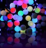 Гирлянда светодиодная, шарики 50 LED Мульти,двухцветная, фото 6