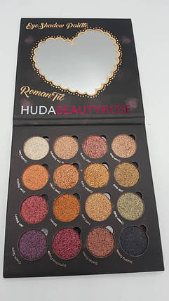 Набор теней HudaBeauty Rose eyeshadow palette 16 цветов, фото 2