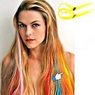 💛 Цветные волосы, пряди на заколках, ярко желтые 💛 , фото 7