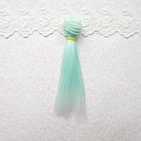 Волосы для кукол в трессах, омбре мята с белым - 25 см