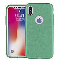 Чехол-накладка TOTO TPU Case Rose series 3 in 1 на IPhone X / 10 Green