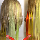 💛 Цветные пряди на заколках жёлтые 💛 , фото 6