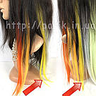 💛 Ярко желтые термо пряди волос на заколках 💛 , фото 7