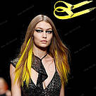 💛 Ярко желтые термо пряди волос на заколках 💛 , фото 8