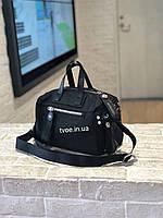 """Женская стильная черная сумочка """"боченок"""""""
